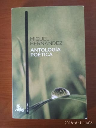 Libro Miguel Hernández Antología Poética