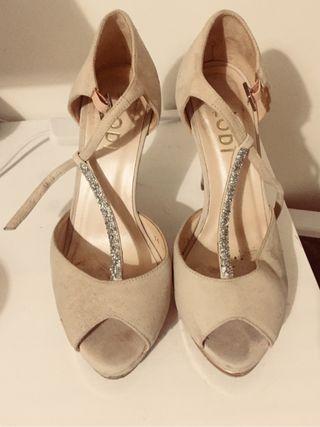 zapatos de novia de colores de segunda mano en wallapop