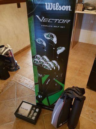 juego completo golf para zurdos wilson vector