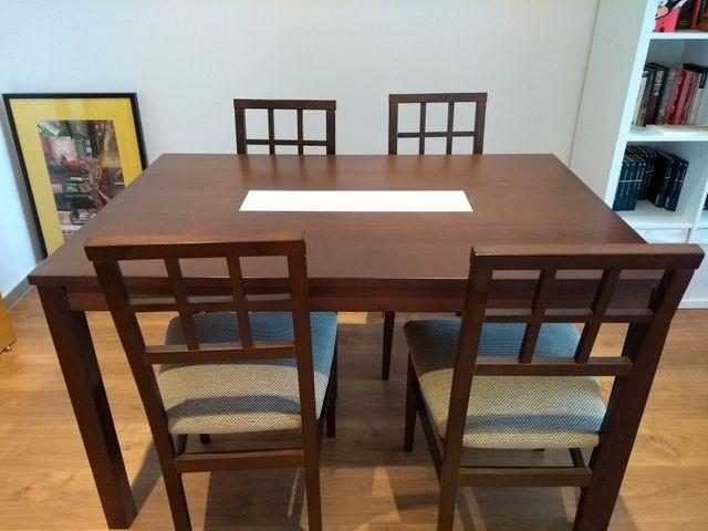 Mesa y sillas de comedor de segunda mano por 100 € en Los Garres en ...