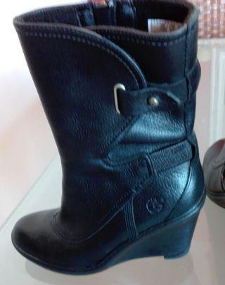 botas negras timberland mujer
