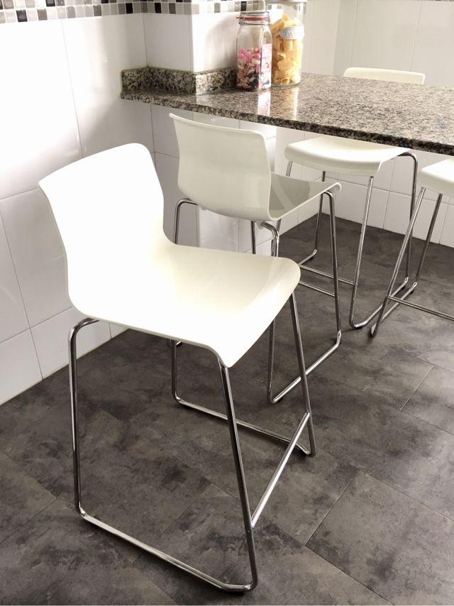 Taburete alto, silla alta barra bar, cocina (4 unidades) de segunda ...