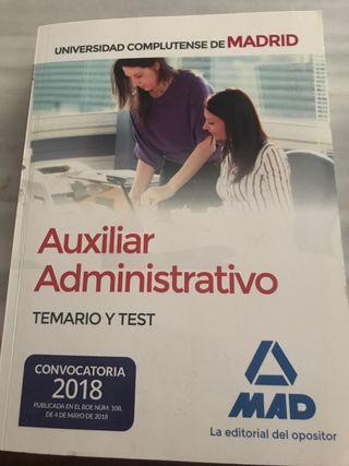 Temario auxiliar adm Uni complutense de Madrid