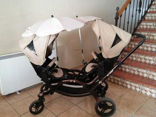Carrito de bebé doble