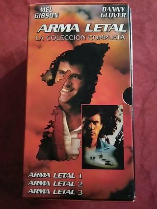 Coleccion Arma letal en VHS