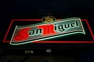 Cartel luminoso SAN MIGUEL letrero -comprobadas bo