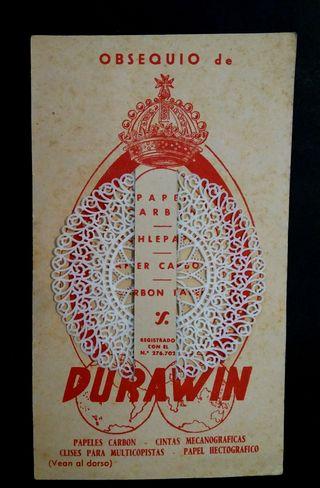 Antigua propaganda casa Durawin