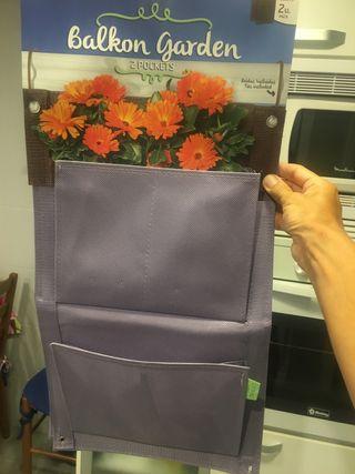 Bolsas colgantes para plantas