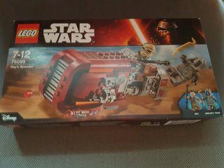 lego star wars rey speeder