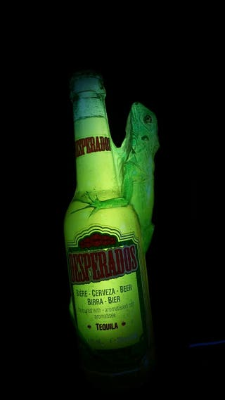 cartel RELIEVE luminoso original Desperados bar pu
