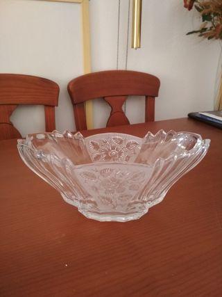 centro de mesa cristal antiguo