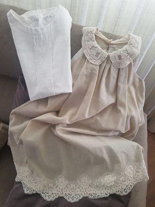 Vestido de ceremonia, utilizado media hora.