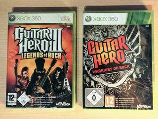 Pack juegos GUITAR HERO para XBOX360