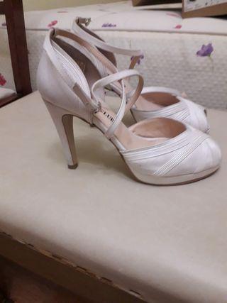 zapatos de novia de segunda mano en valladolid en wallapop