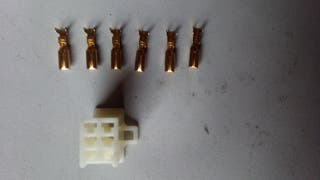 Piña conector patinete bicicleta eléctrica 6 pin