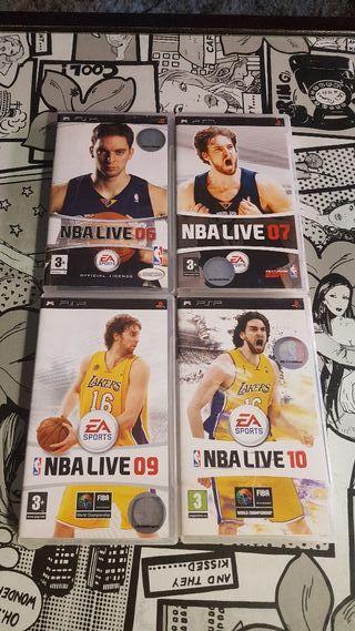 Colección de NBA LIVE psp