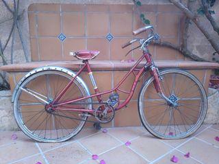 Bicicleta con frenos de varillas