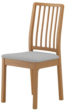 Silla roble Orrsta gris EKEDALEN Ikea