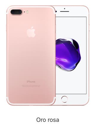 iPhone 7 Plus dorado rosa