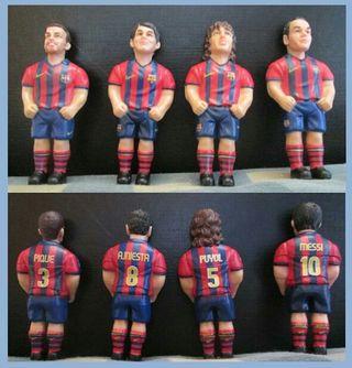 Jugadores FC Barcelona en miniatura