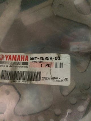 disco de freno trasero Yamaha WR todas hasta 2006