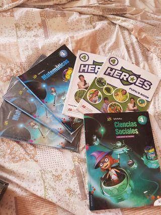 libros 4 de primaria heroes y edelvives