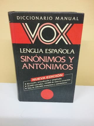 diccionario sinónimo y antonimos