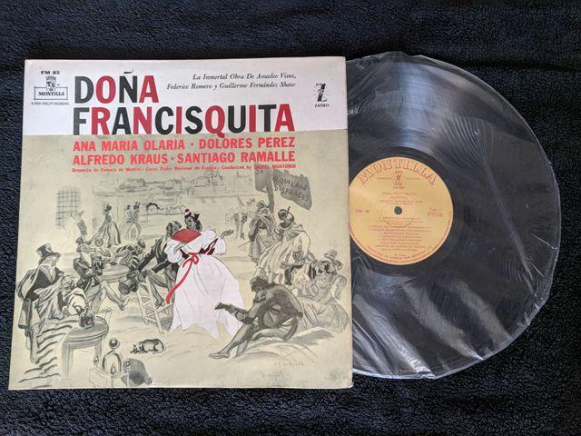 """Disco de vinilo """"Doña Francisquita"""""""