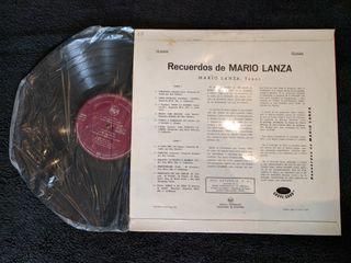 """Disco de vinilo """"Recuerdos de Mario Lanza"""""""