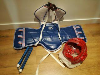protecciones para taekwondo niño nuevas