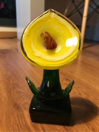 Adorno flor cristal Praga