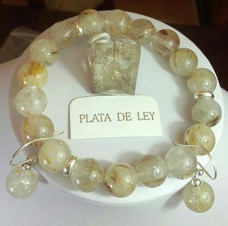 PLATA 925 Y CABELLO DE VENUS DORADO.C.RUTILADO .PE