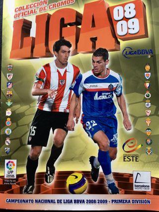 Álbum de cromos liga 2008-09