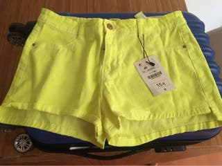 Pantalón short amarillo T40 Lefties
