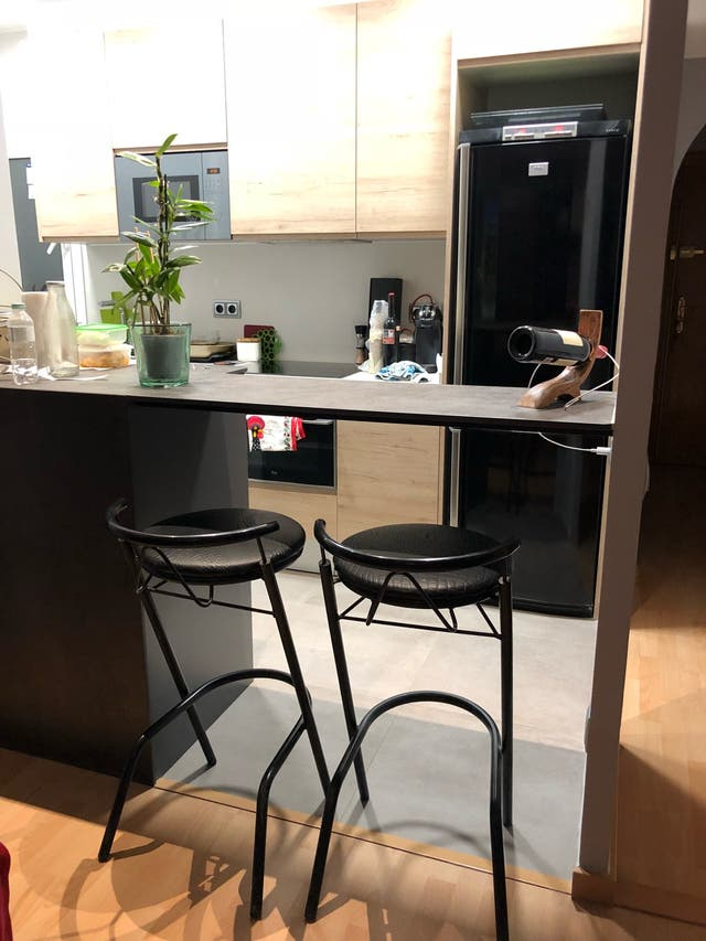 2 x taburetes altos barra cocina color negro de segunda - Taburete barra cocina ...
