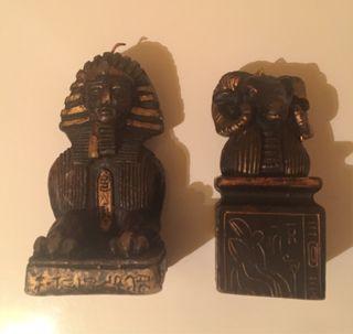 Figuras de vela decorativas con motivo egipcio