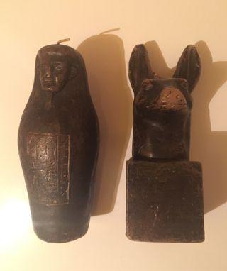 Figuras de vela decorartivas con motivo egipcio