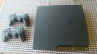 consola ps3 + 2 mandos + volante + juegos