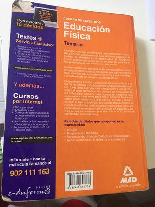 Temario oposiciones Maestros Educación Física 2011