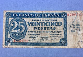 Billete 25 pts 1935