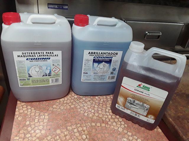 Detergente o abrillantador-lavavajillas industrial