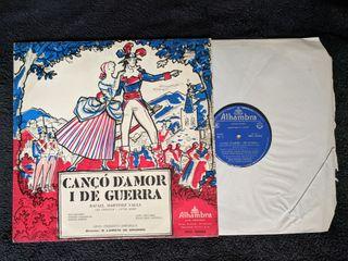 "Disco de vinilo ""Cançó d'amor i de guerra"""