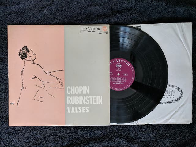 "Disco de vinilo ""Chopin Rubinstein valses"""