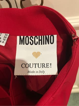 Moschino. Red skirt
