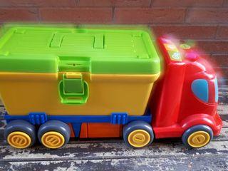 camion con herramientas para bebe