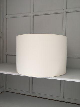 Pantalla cilindrica lino natural