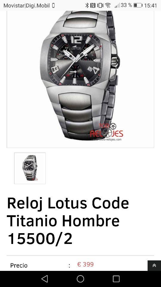 aa6d135bab4e Reloj Lotus hombre titanio de segunda mano por 1 € en Lleida en WALLAPOP