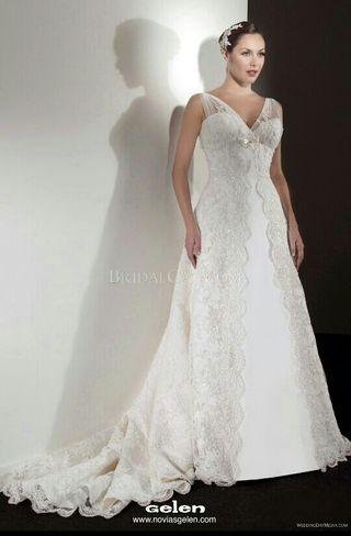 vestido de novia talla 38 de segunda mano en donostia-san sebastián