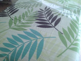 Tropical leaf reversible cover