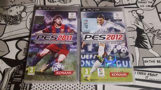 PES 2011 y 2012 para PSP